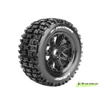 Louise RC SC-Pioneer Off-Road Front/Rear Chunky Tyres, Mounted on Rim.